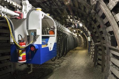 Coal Mine Machine to Transport Workers Stok Fotoğraf