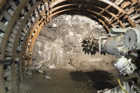 Kohlebergbau mechine mit rotierenden Messerwelle