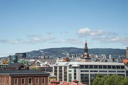 scandinavian peninsula: Panorama of city centre of Oslo