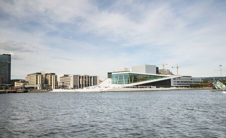 Opera House and Financial District in Capital City of Norway