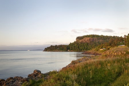 scandinavian peninsula: Beautiful, Rocky Coastline in Scandinavia Stock Photo