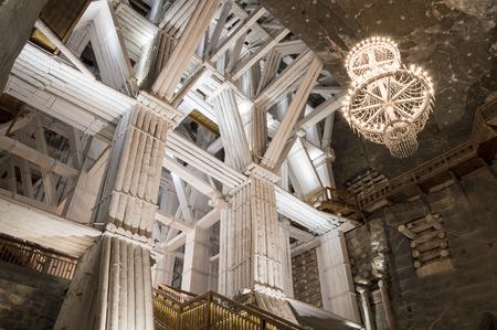 tunneling: Illuminated, Underground Michalowice Chamber in the Salt Mine in Wieliczka, Poland