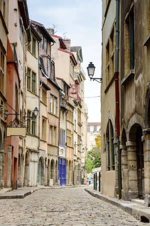 Charming buildings in Lyon, France