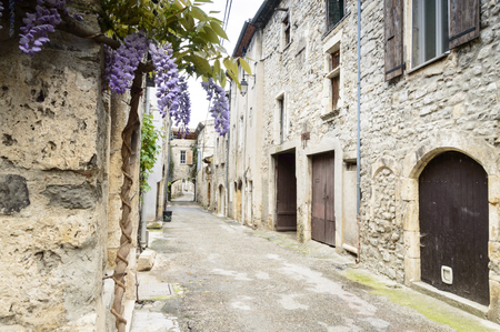 Charming buildings in tiny village in Southern France