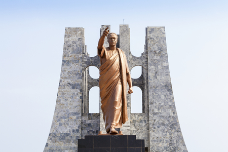 Nkrumah Memorial Park - First president of independent Ghana, West Africa Imagens