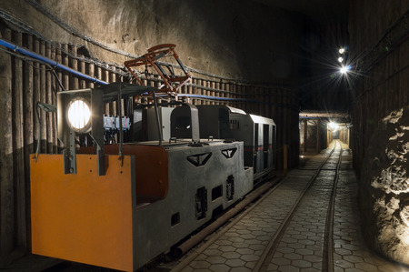 Tranportation for people in salt mine museum photo