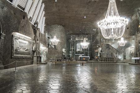 WIELICZKA, POLAND - APRIL 20, 2013  Wieliczka Salt Mine  13th century  is one of the world