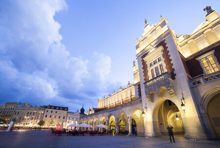 Cloth s Hall on the Krakow market square photo