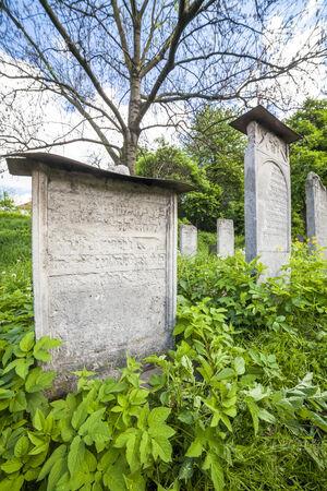 The Remuh Cemetery on main street in Jewish Krakow Kazimierz