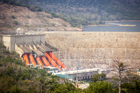 Akosombo power station supplies with energy almost whole Ghana and half of Togo, West Africa.