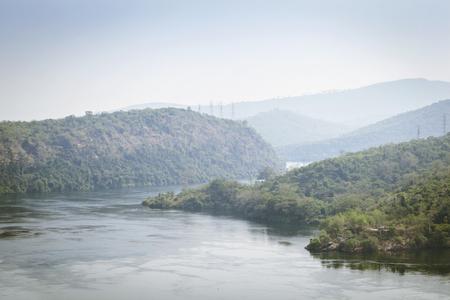 ghana: Tropical River Volta in Ghana, West Africa.