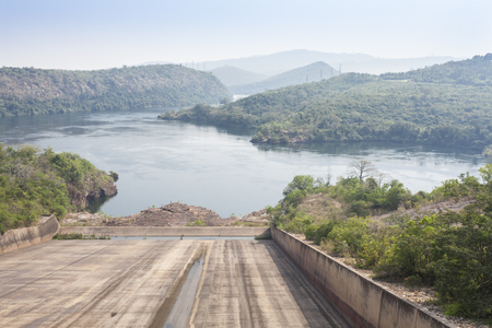 Akosombo Hydroelectric Power Station on the Volta River supplies with energy almost whole Ghana and half of Togo, West Africa