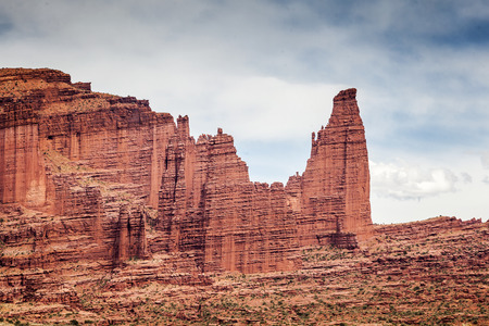 moab: Famous Fisher Towers near Arches National Park, Utah, USA Stock Photo
