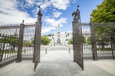 mormon temple: The Church of Jesus Christ of Latter-day Saints Conference Center, Salt Lake City, Utah