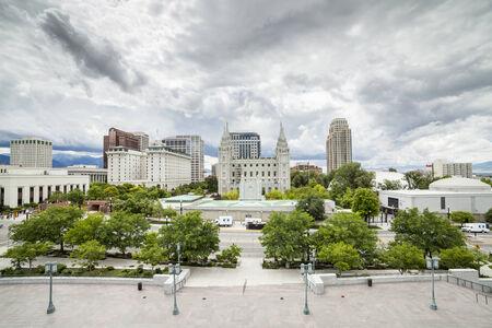 mormon temple: Panorama of Salt Lake City, Utah, USA