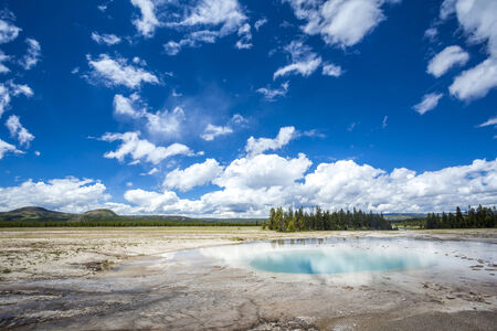 prismatic: Grand Prismatic Spring in Yellowstone NP