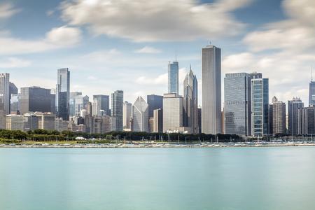 Beautiful skyline of Chicago, Illinois, USA photo
