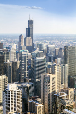 the sears tower: Beautiful skyline of Chicago, Illinois, USA
