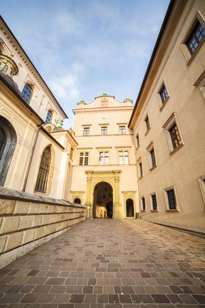polska monument: Famous Krakow Castle, Poland, Europe Editorial