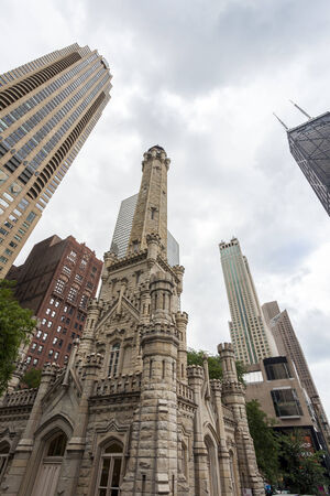 Historic water towers in Chicago, Illinois, USA