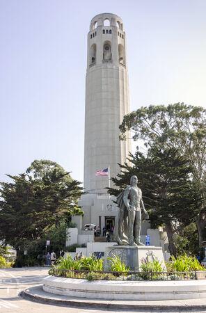 coit: Coit Tower in San Francisco, California, USA Editorial