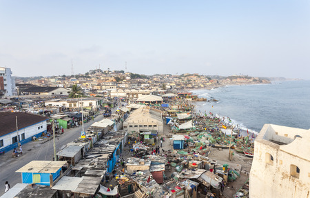 Cape Coast Cityscape, Ghana, West Africa Imagens - 36176326