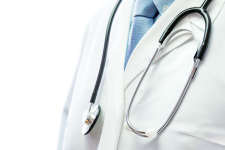 Close up of a doctor with stethoscope