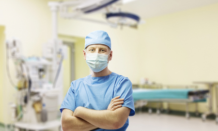 Surgeon at operating room in the hospital Standard-Bild