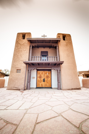 adobe pueblo: Adobe settlement – consisting of dwellings and ceremonial buildings – represents the culture of the Pueblo Indians of Arizona and New Mexico. Editorial