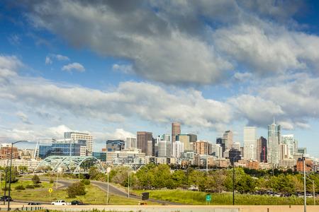 capital of colorado: Denver city center, Capital of Colorado State, USA Stock Photo