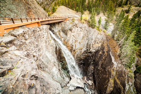 ouray: Bear Creek Falls close to Ouray, Colorado, USA Stock Photo