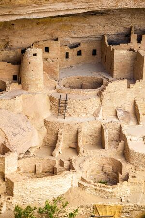 anasazi: Cliff dwellings in Mesa Verde National Parks, Colorado, USA