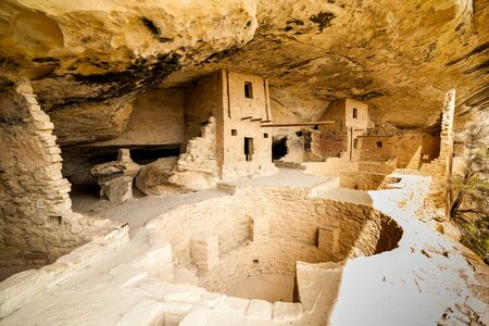 kiva: Cliff dwellings in Mesa Verde National Parks, Colorado, USA