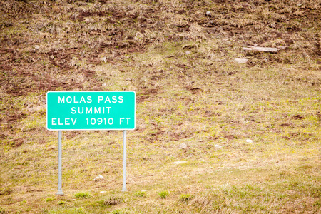 elevation: Molas Pass Summit at elevation of 10910 ft