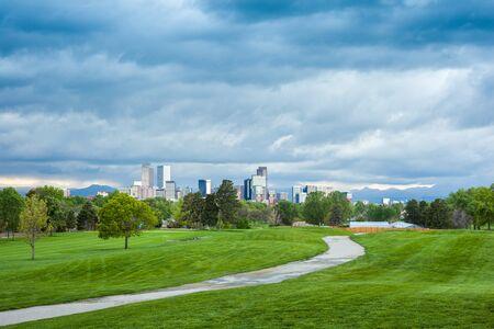 denver city park: Denver city center, Capital of Colorado State, USA Stock Photo