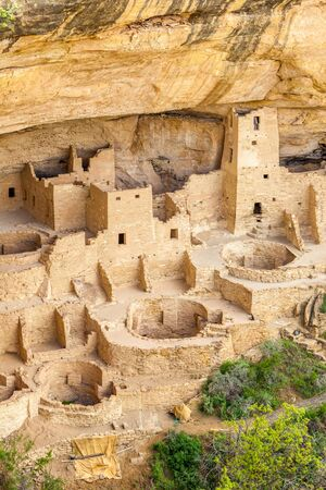 anasazi: Cliff dwellings in Mesa Verde National Parks, Colorado, USA