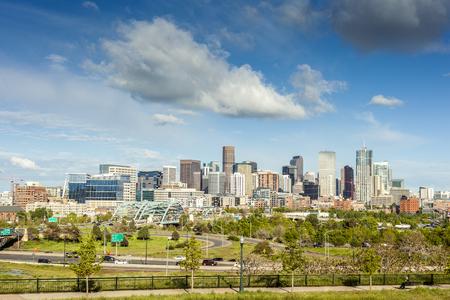 Denver city center, Capital of Colorado State, USA Stock Photo
