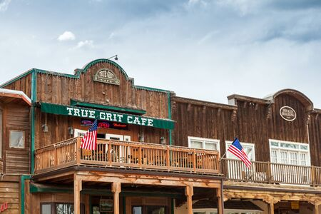 john wayne: Ridgway Colorado  May 9 2015: The True Grit Caf was built to honor the filming of the academy award winning movie