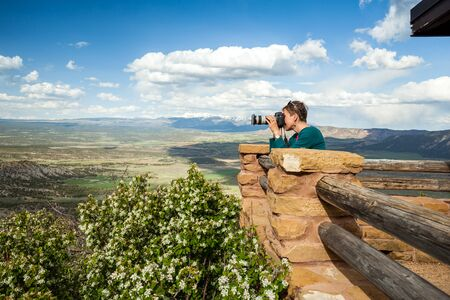 take a history: Photographer taking photos of beautiful nature of Colorado, USA