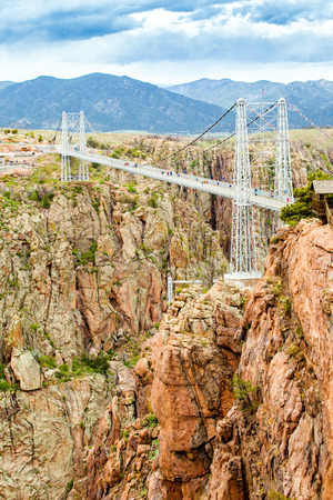 Royal George Suspension Bridge over Arkansas River, Colorado, USA