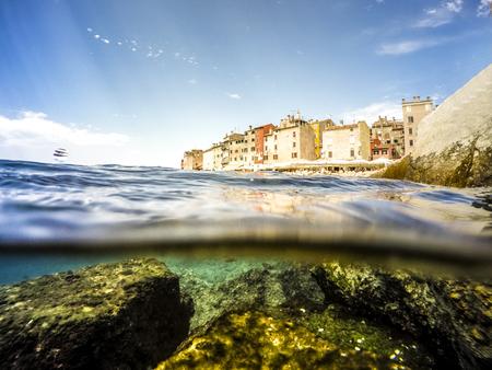 paisaje mediterraneo: Rovinj as beautiful summer destination, Croatia, Europe Foto de archivo