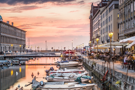 Canal grande in Trieste city center, Italy, Europe Imagens - 47035712