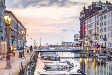 grande: Canal grande in Trieste city center, Italy, Europe