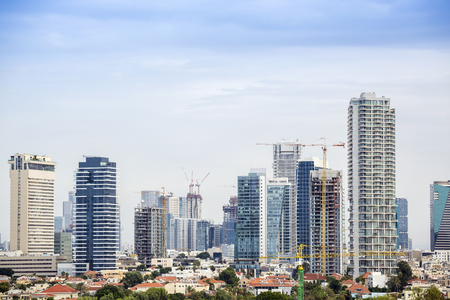 Business and finance district in Tel-Aviv, Israel, Middle East Stock Photo