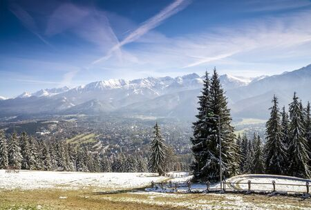 Zakopane winter panorama taken from Gubalowka, Poland Stock Photo