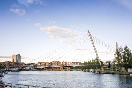 Bridge in Tampere, Hame Region, Finland Stock Photo