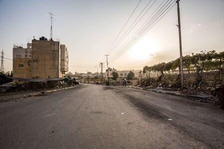 autonomia: Suburbios de Hebrón después de los disturbios, la autonomía palestina, Israel