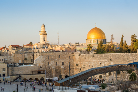 israel jerusalem: Western Wall and Rock of the Dome in Jerusalem, Israel