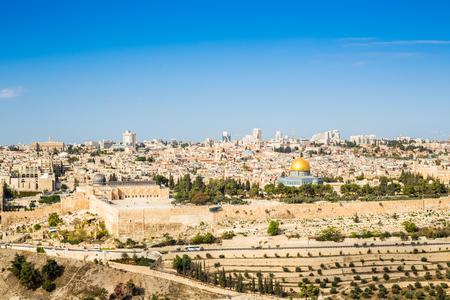 エルサレムのオリーブ山、イスラエルからの景観 写真素材