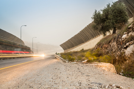 west bank: The Israeli West Bank barrier south of Jerusalem, close to Bethlehem, Israel